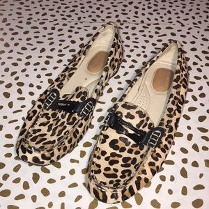 Sperry Calf Hair Leopard Driving Loafer